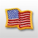 US Flag Patch: American Flag 2î X 2 1/2î - Wavy Edge - 1 Each