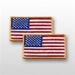 US Flag Patch: American Flag 2î X 3î - Gold Merrowed Edge - 2 Each