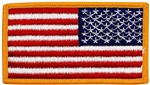 US Flag Patch: American Flag 2î X 3î Gold Merrowed Edge Reverse Field - 2 Each