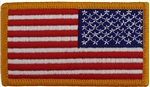 US Flag Patch: American Flag 2î X 3î Reverse Field With Hook Closure - 2 Each