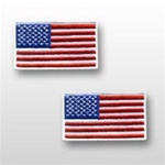 US Flag Patch: American Flag 3î X 5î - White Merrowed Edge - 1 Each