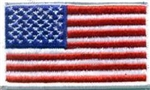 US Flag Patch: American Flag 2î X 3-1/4î White Merrowed Edge - 2 Each