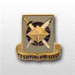 US Army Regimental Corp Crest: Finance - Motto: TO SUPPORT AND SERVE