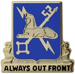 US Army Regimental Corp Crest: Military Intelligence - Motto: ALWAYS OUT FRONT