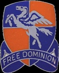 US Army Unit Crest: 224th Aviation Regiment - Motto: FREE DOMINION