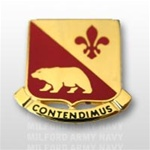 US Army Unit Crest: 144th Field Artillery (ARNG CA) - OBSOLETE! AVAILABLE WHILE SUPPLIES LAST! - Motto: CONTENDIMUS