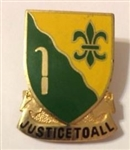 US Army Unit Crest: 310th Military Police Battalion - Motto: JUSTICE TO ALL