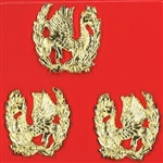 US Army Unit Crest: Headquarters Company ( 2L & 1R ) Set of 3 pcs. - NO MOTTO
