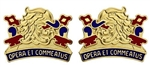 US Army Unit Crest: 687th Quartermaster Battalion (L&R) - OBSOLETE! AVAILABLE WHILE SUPPLIES LAST! - Motto: OPERA ET COMMEATUS