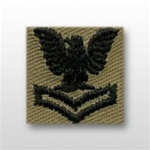 US Navy Cap Device Subdued: E-5 Petty Officer Second Class (PO2) - Desert