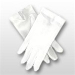 White Cotton Pull-On Gloves - No Snap