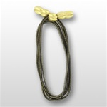 US Army Drill Instructor Accessory: Officer Cap Cord - Gold And Black with Gold Acorns