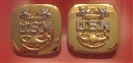 US Navy Enlisted Insignia Jewelry: E-9 Master Chief Petty Officer (MCPO) - Cuff Links