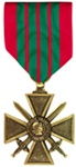 Full-Size Medal: Croix De Guerre - All Services - Foreign Service - France
