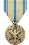 Full-Size Medal: Armed Forces Reserve - Army - Reverse has a Minuteman in front of a circle with 13 stars