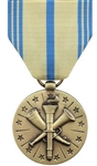 Full-Size Medal: Armed Forces Reserve - Navy - Reverse has a sailing ship with an anchor on its front