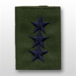 USAF Officer GoreTex Jacket Tab:  O-9 Lieutenant General (Lt Gen) - Embroidered - For BDU - 3 Star