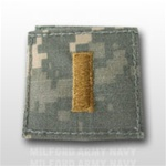 US Army ACU Rank with Hook Closure:  O-1 Second Lieutenant (2LT)