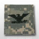 US Army ACU Rank with Hook Closure:  O-6 Colonel (COL)