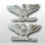 USMC Officer Coat Insignia:  O-6 Colonel (Col) - Mirror Finish