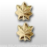 USMC Officer Coat Insignia:  O-4 Major (Maj) - Gold Mirror Finish