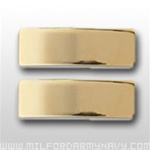 USMC Officer Coat Insignia:  O-1 Second Lieutenant (2ndLt) - Gold Mirror Finish
