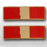 USMC Officer Coat Insignia: W-1 Warrant Officer One (WO-1) - Gold Mirror Finish