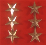 "US Army Stars Mini Type C:  O-9 Lieutenant General (LTG) - Nickel Plated - 5/8"" Point To Center"