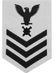 Navy E6 Rating Badge: Explosive Ordnance - white