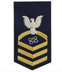 USCG Chief Petty Officer Rating Badge with Specialty:  E-7  Electronics Technician (ET)
