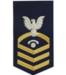 USCG Chief Petty Officer Rating Badge with Specialty:  E-7  Telecommunications Specialist (TC)
