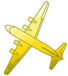 "Attachment: Berlin Airlift 3/8"" - Gold - For Ribbon or Full Size Medal"