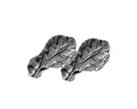 "Attachment:  Silver Oak Leaf Cluster - 5/16"" - 2 On Bar - For Ribbon and Full Size Medal"
