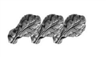 "Attachment:  Silver Oak Leaf Cluster - 5/16"" - 3 On Bar - For Ribbon and Full Size Medal"