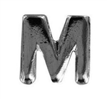"Attachment:     Silver Letter ""M"" (Large) - For Ribbon or Full Size Medal"