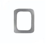 "Attachment:     Silver Letter ""O""  (Large) - For Ribbon or Full Size Medal"
