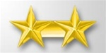 "Attachment:   Gold Star 5/16"" - 2 On A Bar - For Ribbon or Full Size Medal"