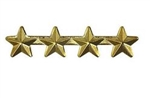 "Attachment: Gold Star 5/16"" - 4 On A Bar - For Ribbon or Full Size Medal"