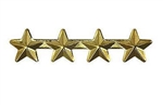 "Attachment: Gold Star 3/16"" - 4 On A Bar - For Ribbon or Full Size Medal"