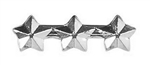 "Attachment:     Silver Star 3/16"" - 3 On A Bar - For Ribbon or Full Size Medal"