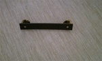 "Regulation Medal Mounting Bar: 2 3/4"" Long Fibre Bar for 2 Full Size Medals"
