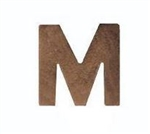 "Attachment:     Bronze Letter ""M"" - For Mini Medal"