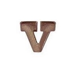 "Attachment:  Bronze Letter ""V"" - For Mini Medal"