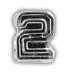 Attachment: Flight Numeral -  Silver Finish #2 - For Ribbon, Full Size Medal or Mini Medal
