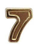 Attachment: Flight Numeral - Gold Finish #7 - For Ribbon, Full Size Medal or Mini Medal