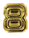 Attachment: Flight Numeral - Gold Finish #8 - For Ribbon, Full Size Medal or Mini Medal