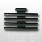 "Ribbon Mount: 13 Ribbons - Metal - 1/8"" Space - Black Finish - Rows of 3 - for Army"