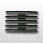 "Ribbon Mount: 15 Ribbons - Metal - 1/8"" Space - Black Finish - Rows of 3 - for Army"