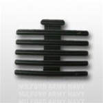 "Ribbon Mount: 16 Ribbons - Metal - 1/8"" Space - Black Finish - Rows of 3 - for Army"