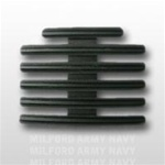 "Ribbon Mount: 17 Ribbons - Metal - 1/8"" Space - Black Finish - Rows of 3 - for Army"